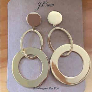 J crew gold earrings- brand new.